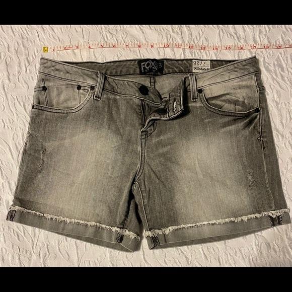 Fox Pants - Fox Denim Gray Shorts
